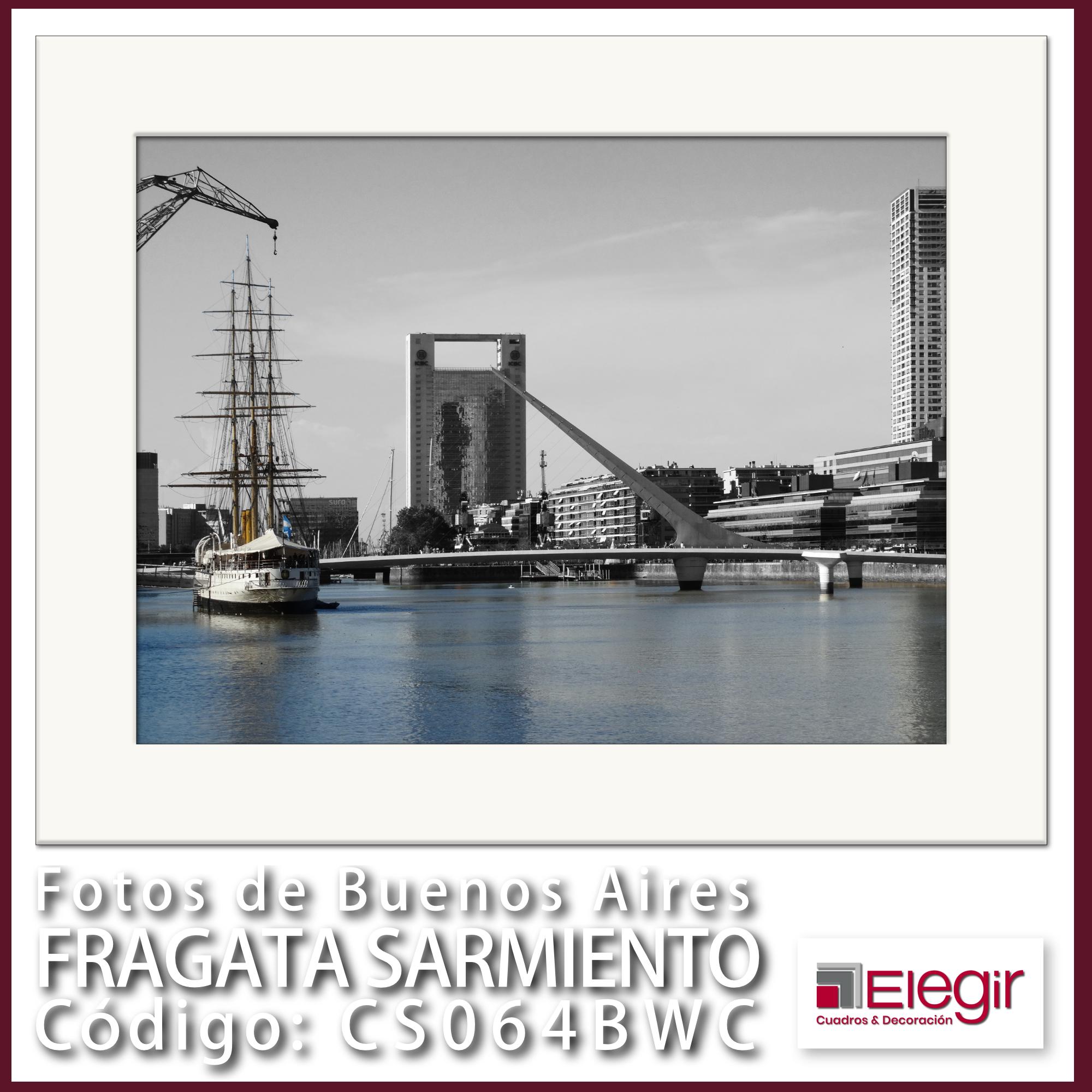 B CS064BWC Fragata Sarmiento 30x40