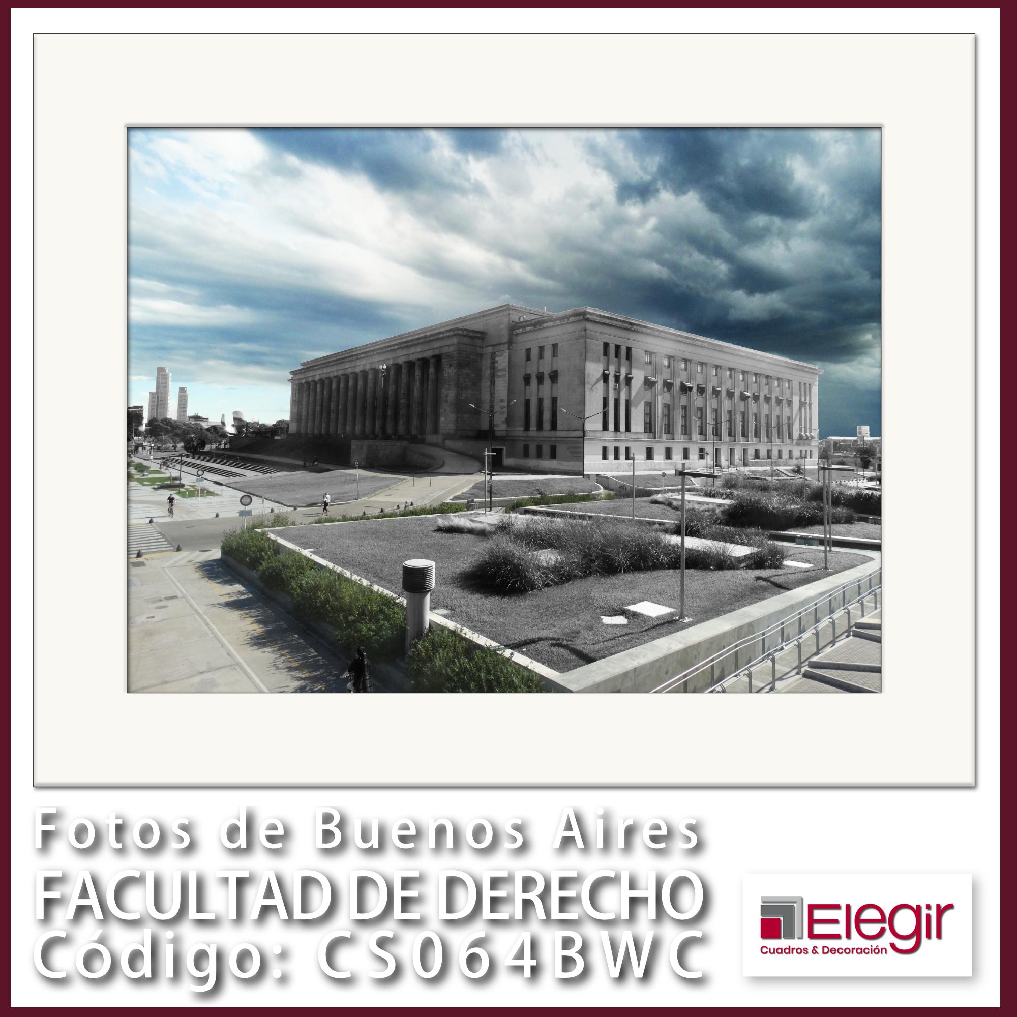 B CS065BWC Facultad de Derecho 40x30