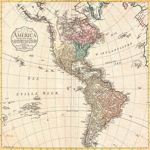 1MP4987 - Conrad Mannert - Map of North America and South America, 1796 {Cua - Mapas}