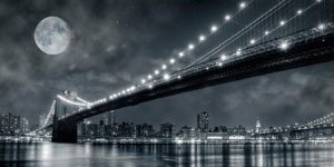 2DL248 - Janis Lacis - Brooklyn Bridge at night, New York {H3 - Ciudades}
