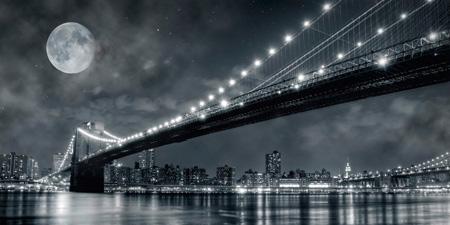 2DL248 - Janis Lacis - Brooklyn Bridge at night, New York {H3 - Ciudades}