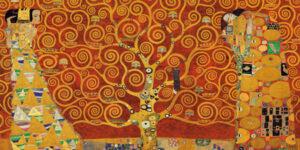 2GK735 - Gustav Klimt - Tree of Life (Red Variation)