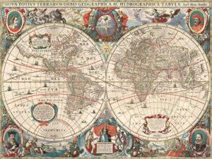 3AA2250 - Hendrik Hondius - Nova totius Terrarum Orbis geographica ac hydrographica tabula {H11-Mapas}
