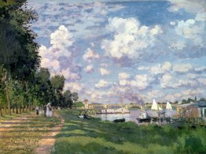 3CM018 - Claude Monet - The Marina at Argenteuil