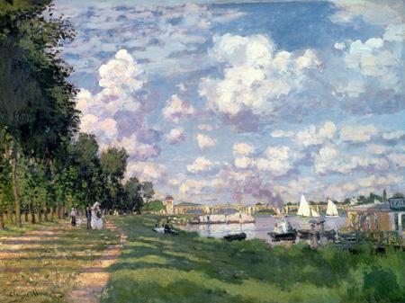 3CM018 - Claude Monet - The Marina at Argenteuil