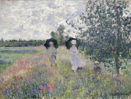 3CM1042 - Claude Monet - Promenade prés d'Argenteuil