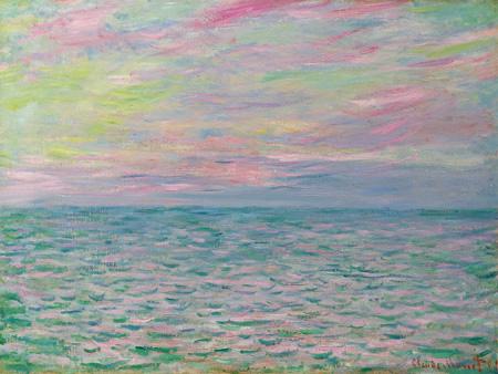 3CM2171 - Claude Monet - Coucher De Soleil à Pourville, Pleine Mer