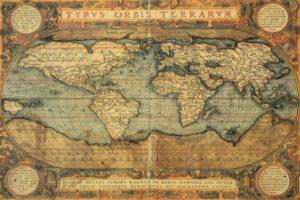 3MP1630 - Abraham Ortelius - Typus Orbis Terrarum, 1587 (H11 - Mapas)