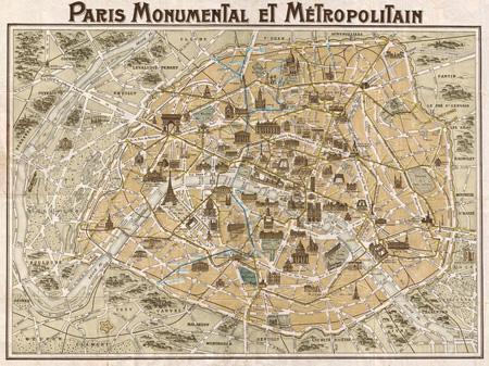 3MP587 - Anonymous - Paris Monumental et Métropolitain, 1932 {H11 - Mapas}