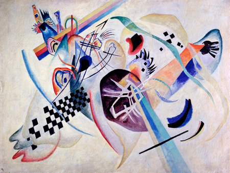 3WK2624 - Kandinsky - Composition N. 224, On the white