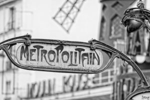 SH182903291 - Andrea Izzotti - Paris Metro Metropolitain Sign near Moulin Roug