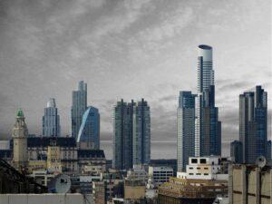 CS074BWC Buenos Aires Blue Skyline